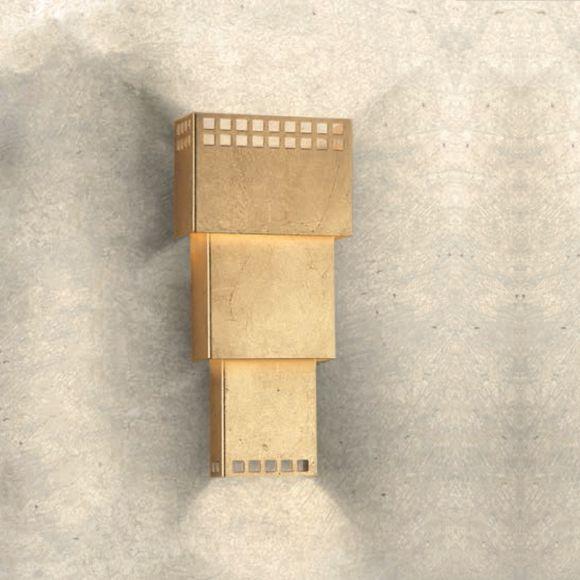 Attraktive Wandleuchte - 3 Oberflächen - Höhe 34 cm