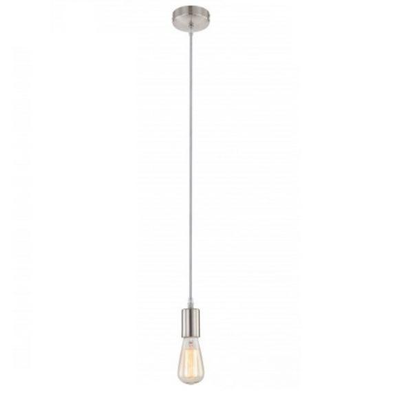 Aufhängung - Leuchtenpendel in Nickel matt, Kabel in grau