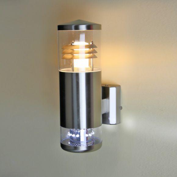 LHG Aussenwandleuchte aus Edelstahl mit 16 LEDs als Downlight, Energie sparend, LED inklusive - Energiesparleuchtmittel nicht inklusive