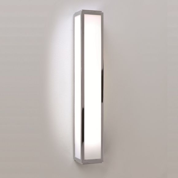 Badezimmer Wandleuchte in Chrom - Opalglas - 50 cm Länge - inklusive Leuchtmittel