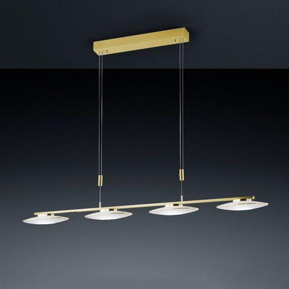 Bankamp LED-Pendelleuchte Messing-matt / poliert, LED 4x 25,6W