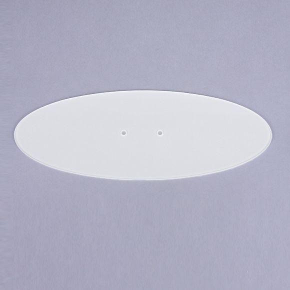 B+M flaches Abdeckglas zur LED-Pendelleuchte Palais