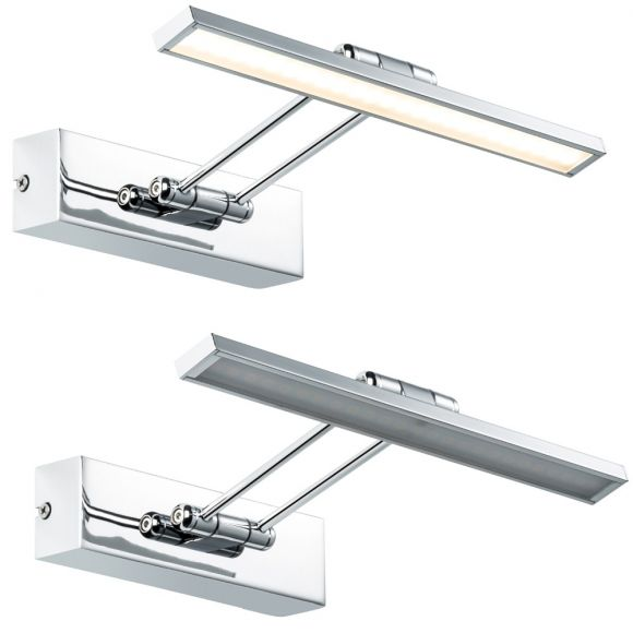 Bilderleuchte Beam Thirty - 29cm inkl. 5Watt LED - in Nickel gebürstet / Chrom chrom/nickel