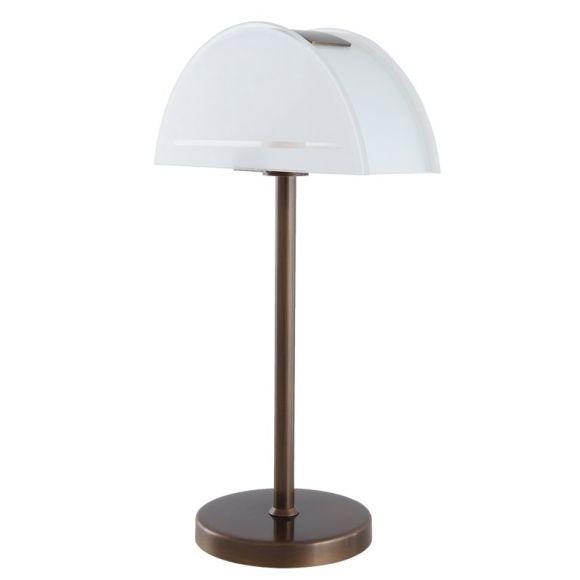 b m led tischleuchte in bronze mit teilsatiniertem glas wohnlicht. Black Bedroom Furniture Sets. Home Design Ideas