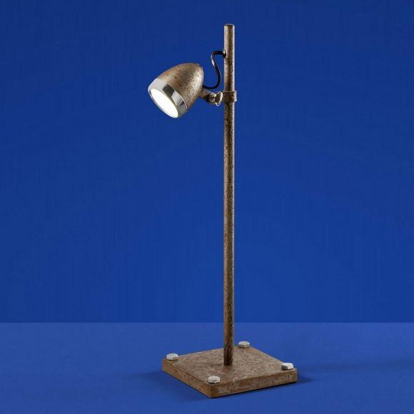 B Leuchten Einzigartige LED Tischleuchte, Rost Chrom