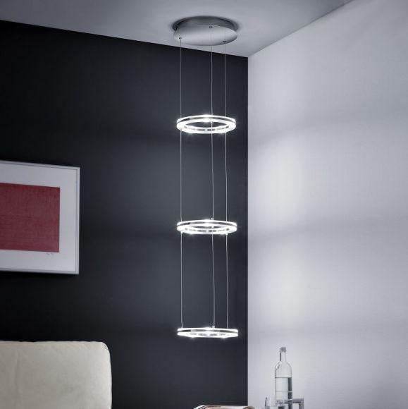b leuchten led pendelleuchte drei beleuchtete ringe wohnlicht. Black Bedroom Furniture Sets. Home Design Ideas