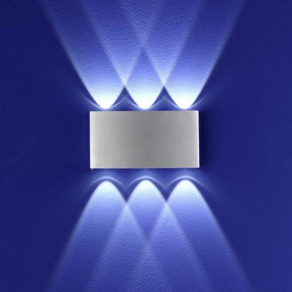 B-Leuchten LED Wandleuchte Stream  Aluminium gebürstet