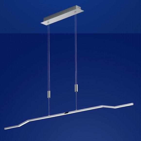 B-Leuchten LED-Pendelleuchte Break Chrom, Breite 130 cm