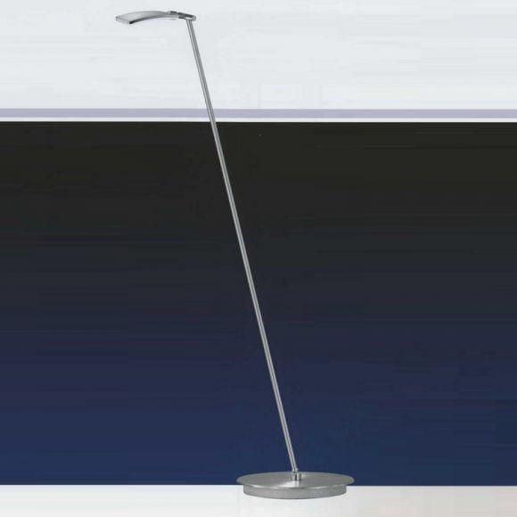 b leuchten led stehleuchte in nickel matt wohnlicht. Black Bedroom Furniture Sets. Home Design Ideas