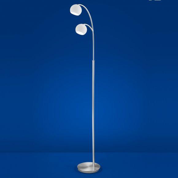 B-Leuchten LED-Stehleuchte Verona Nickel-matt mit Chrom