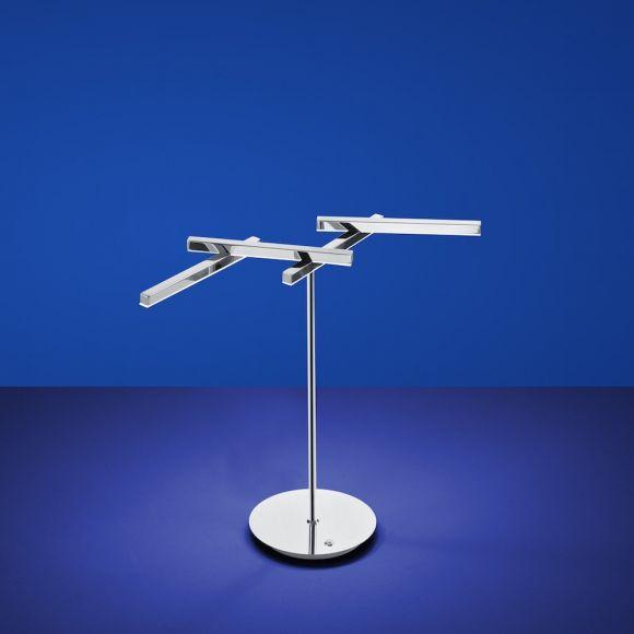 B-Leuchten LED-Tischleuchte Cross mit Tastdimmer