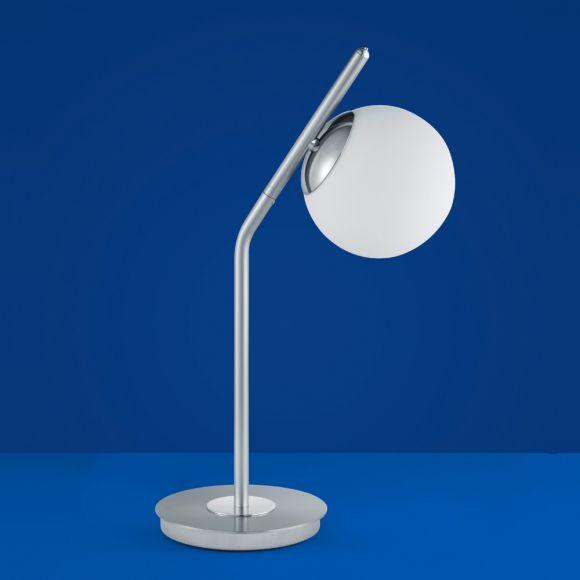 B-Leuchten LED-Tischleuchte Luna Nickel-matt / Chrom