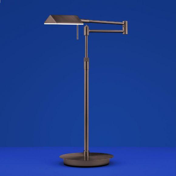 B-Leuchten LED-Tischleuchte Sitten in braun