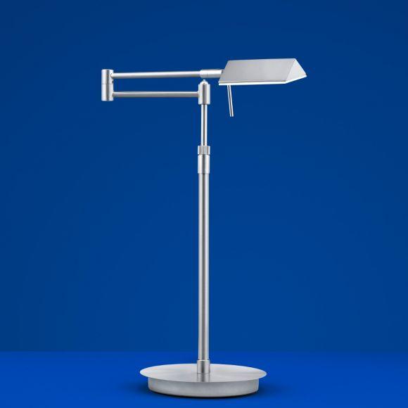 B-Leuchten LED-Tischleuchte Sitten in silber