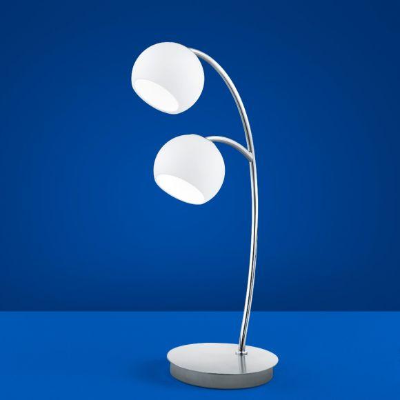 B-Leuchten LED-Tischleuchte Verona Nickel-matt mit Chrom