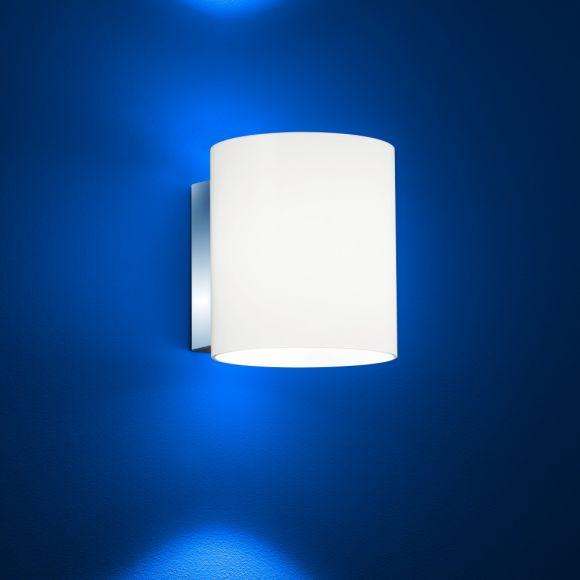 B-Leuchten LED-Wandleuchte Stresa - Glas zylindrisch