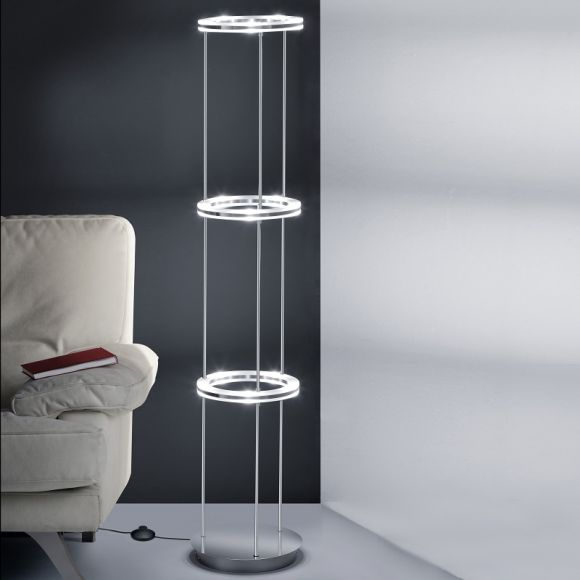 b leuchten moderne led stehleuchte mit fu trittdimmer. Black Bedroom Furniture Sets. Home Design Ideas