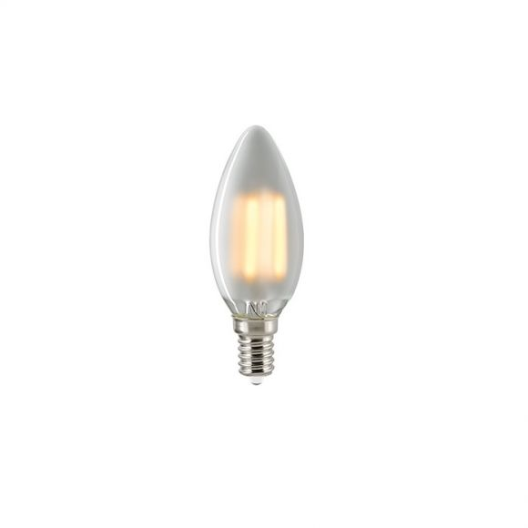 C35 LED Kerze Filamentlampe E14 matt 2700K dimmbar - 4,5 Watt 1x 4,5 Watt, 4,5 Watt, 430,0 Lumen