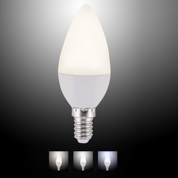 C35 E14 LED-Leuchtmittel 4W CCT-Lichtmanagement inkl Fernbedienung