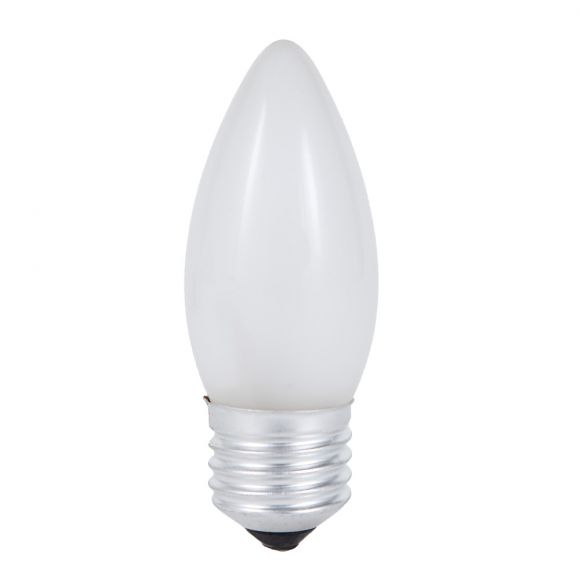 C35 Kerze  matt  E27  15W, 25W, 40W oder 60 Watt