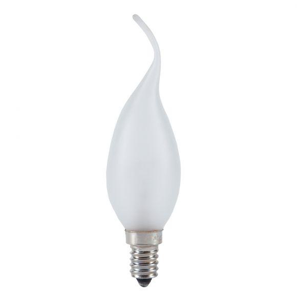 C35 Kerze  Windstoß satiniert matt 40W E14 Glühlampe 370 Lumen Leuchtmittel