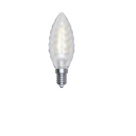 C35, E14 LED Kerze gedreht matt 4Watt 4200K -  Tageslicht