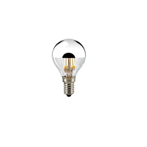 D45 AGL LED Tropfen Filamentlampe E14 4 Watt 2700K dimmbar - Kopfverspiegelt
