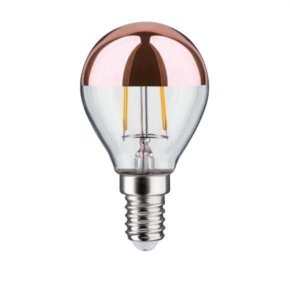 D45 LED Tropfen Kopfspiegel  E14 2,5W 2700K - Kopfverspiegelt kupfer Filament