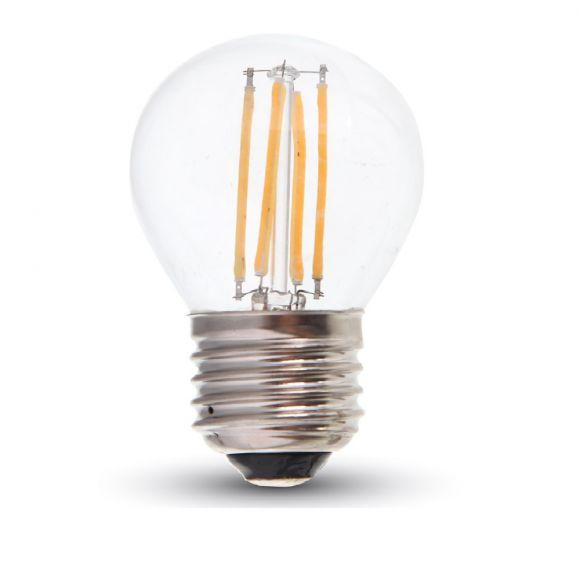 D45 LED-Leuchtmittel 4 Watt, E27 Fassung klar