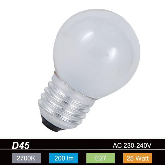 D45 Tropfen 25W Innen mattiert   E27 1x 25 Watt, E, 25 Watt, 200,0 Lumen