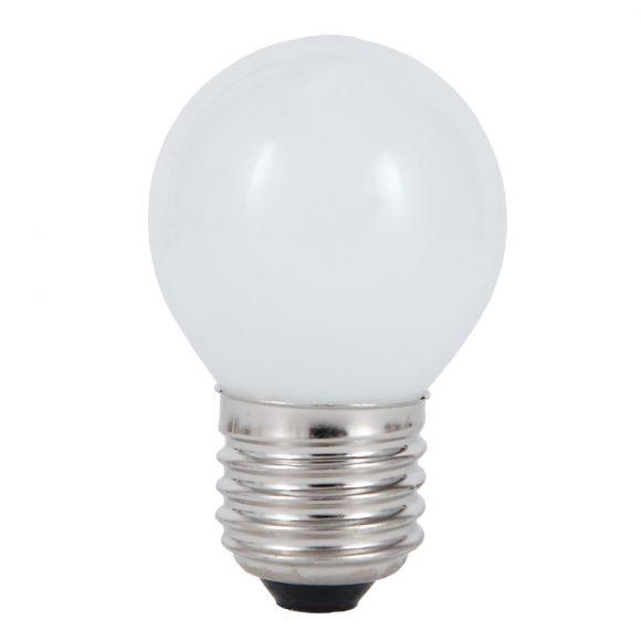 D45 Tropfen, 25 Watt opal weiß, E27 1x 25 Watt, 25 Watt, 190,0 Lumen