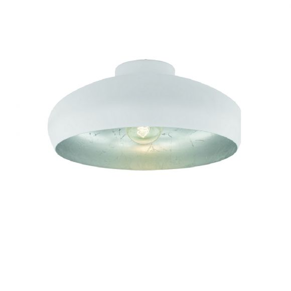 LHG Deckenleuchte Ø 40cm in Weiß - innen silber - inklusive Leuchtmittel E27 60W