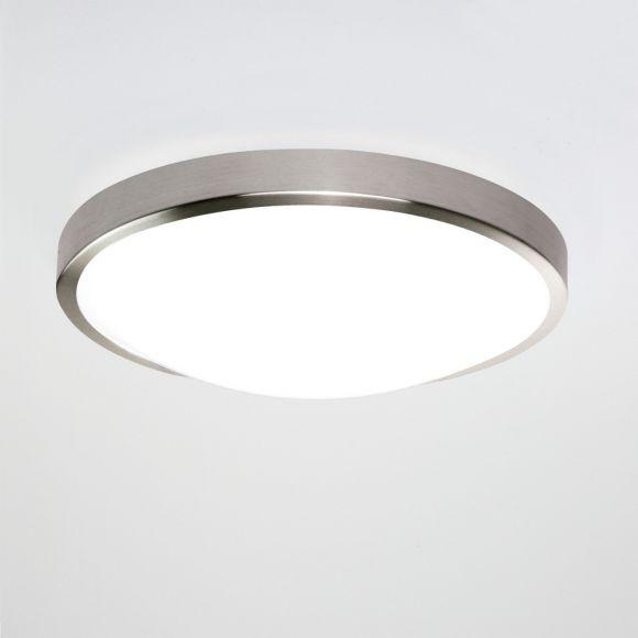 Deckenleuchte 35 cm Chrom, Opalglas, 22,41W LED