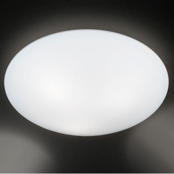 Deckenleuchte Glas, Opalweiß, Nurglasleuchte, Glas-Schute, IP20, rund, D=34 cm