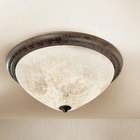 deckenleuchte im landhaus stil made in italy dunkelbraun scavo glas antik durchmesser 48. Black Bedroom Furniture Sets. Home Design Ideas
