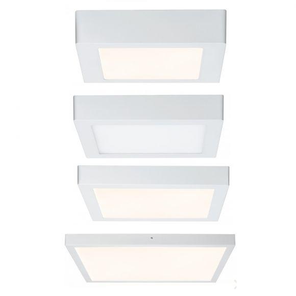 Deckenleuchte Lunar LED-Panel Weiß eckig