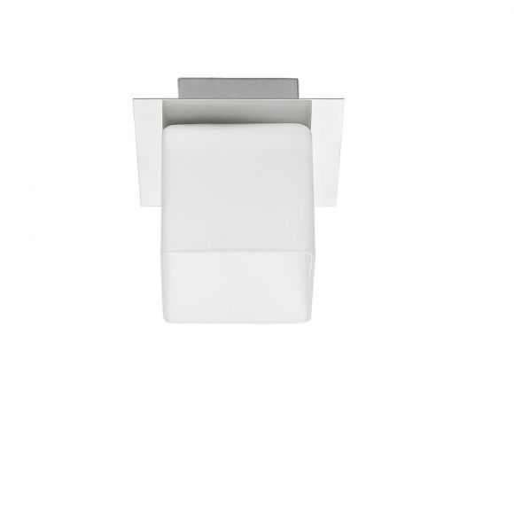 Deckenleuchte Malone 1-flammig mit weißen Gläsern - Silber