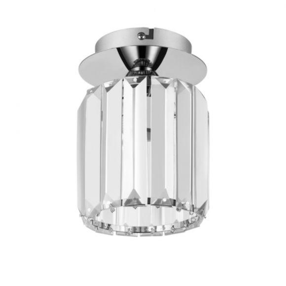 Deckenleuchte Merilo Chrom Kristallglas, 1 flammig, Ø 12cm