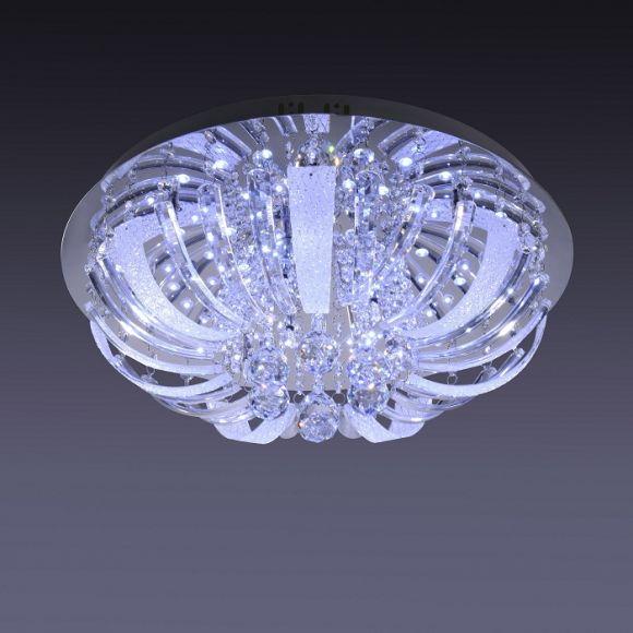 Deckenleuchte mit Glasbehang  inkl. LED+ 10x 14W Halogen