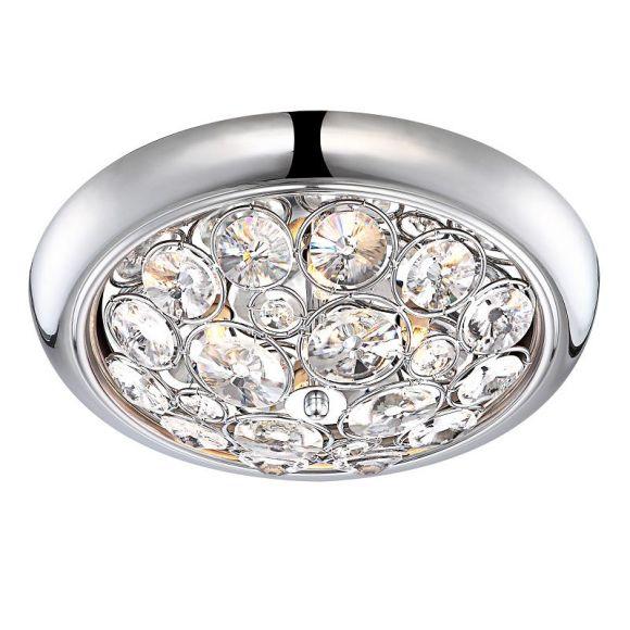 deckenleuchte mit k9 kristallen 4 x 33 watt durchmesser 35 cm wohnlicht. Black Bedroom Furniture Sets. Home Design Ideas