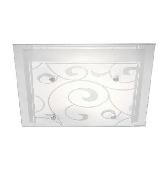Deckenleuchte mit Ornamentik, 33,5 x 33,5cm 2x 60 Watt, 8,00 cm, 33,50 cm, 33,50 cm