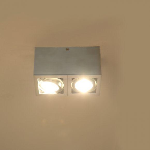 Deckenleuchte mit schwenkbaren Spots, 2 flammig, inklusive Leuchtmittel