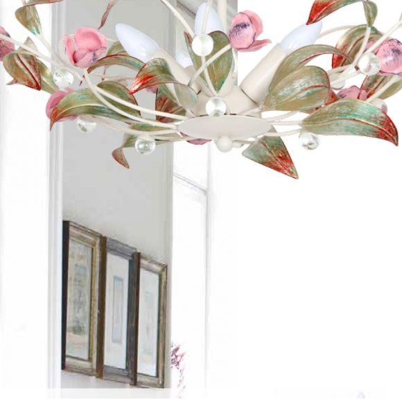 Deckenleuchte Rose im florentiner Stil - Größe wählbar