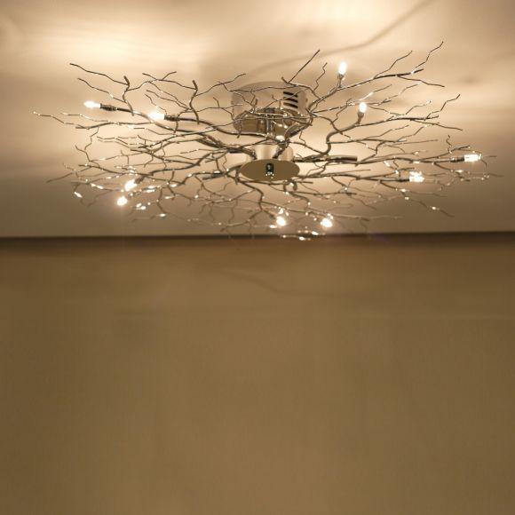 LHG Deckenleuchte Treelamp chrom mit 80cm Durchmesser