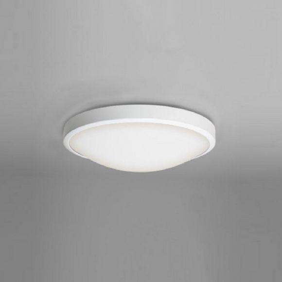 Deckenleuchte in Weiß mit Opalglas 31 cm