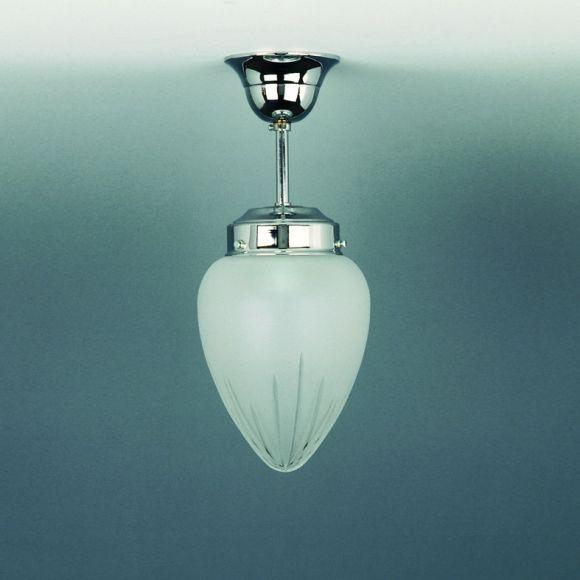 deckenleuchte antike optik chrom glas matt geschliffen wohnlicht. Black Bedroom Furniture Sets. Home Design Ideas