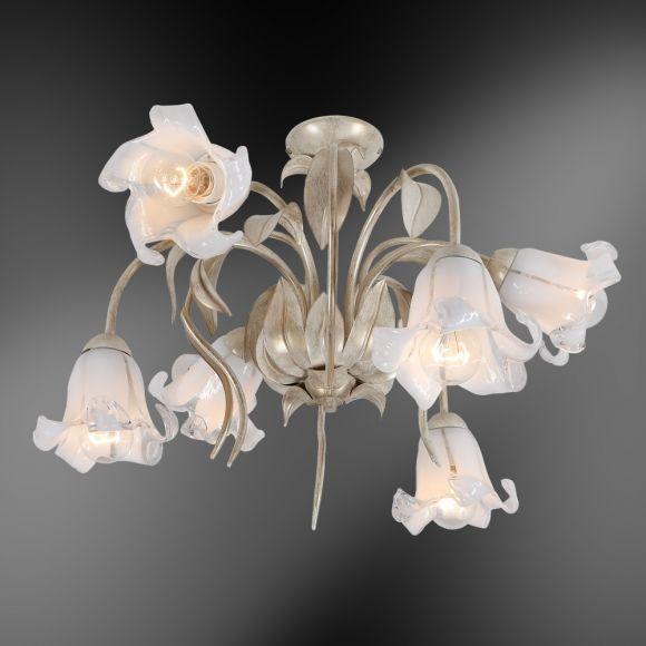 Deckenleuchte, Florales Design, Kelchgläser Blütenform, 2 Größen