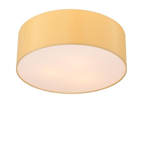 LHG Deckenleuchte, rund, Lampenschirm, Chintz-Stoff, Melange, D=52cm