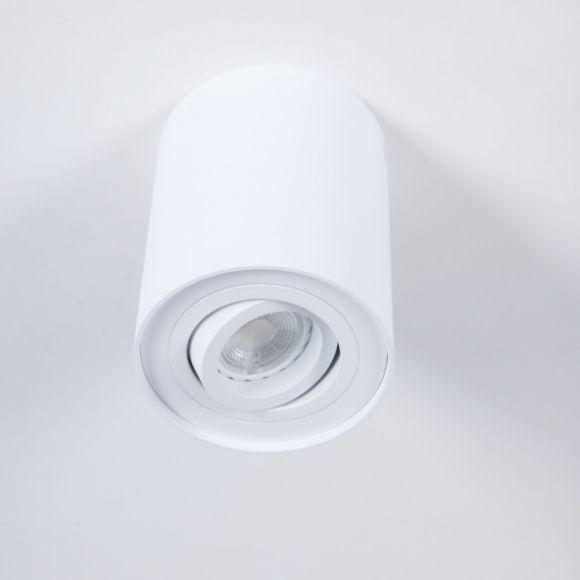 Deckenstrahler aus Aluminium in Weiß inklusive LED 7 Watt