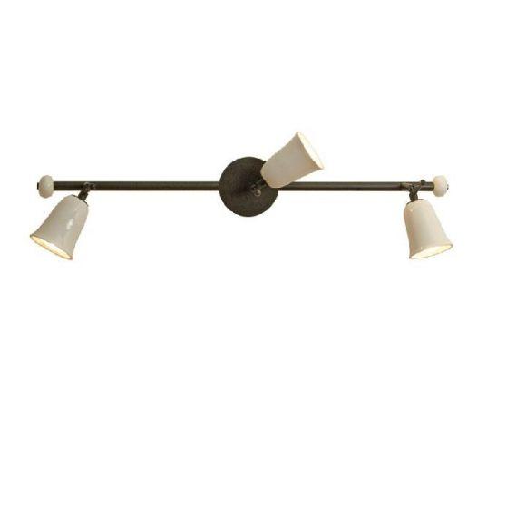 Deckenstrahler Provence mit Keramikschirm - 3-flg.